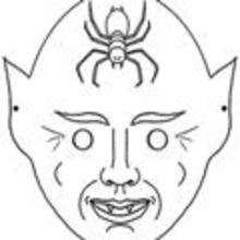 Máscara de Halloween para pintar - Manualidades para niños - MASCARAS infantiles - Mascaras Halloween para niños