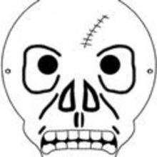 Máscara de calavera para pintar - Manualidades para niños - MASCARAS infantiles - Mascaras Halloween para niños
