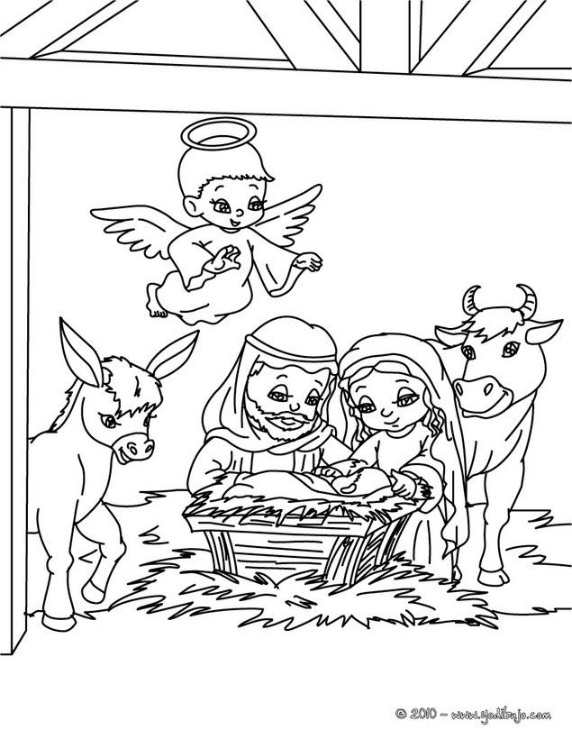 Dibujos Del Nacimiento De Jesus Para Colorear 6 Dibujos Del