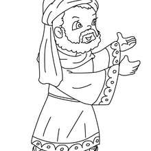 Dibujo para colorear : rey mago Gaspar