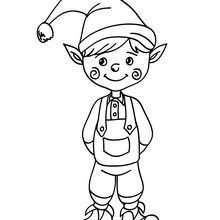 Dibujo para colorear duende de Navidad - Dibujos para Colorear y Pintar - Dibujos para colorear FIESTAS - Dibujos para colorear de NAVIDAD - Dibujos ELFOS DE NAVIDAD para colorear
