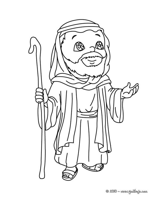 Dibujos para colorear san jose rezando - es.hellokids.com
