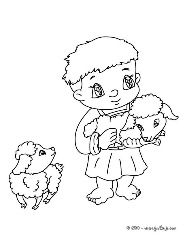 Dibujos Para Colorear Un Niño Pastor Con Corderos Eshellokidscom