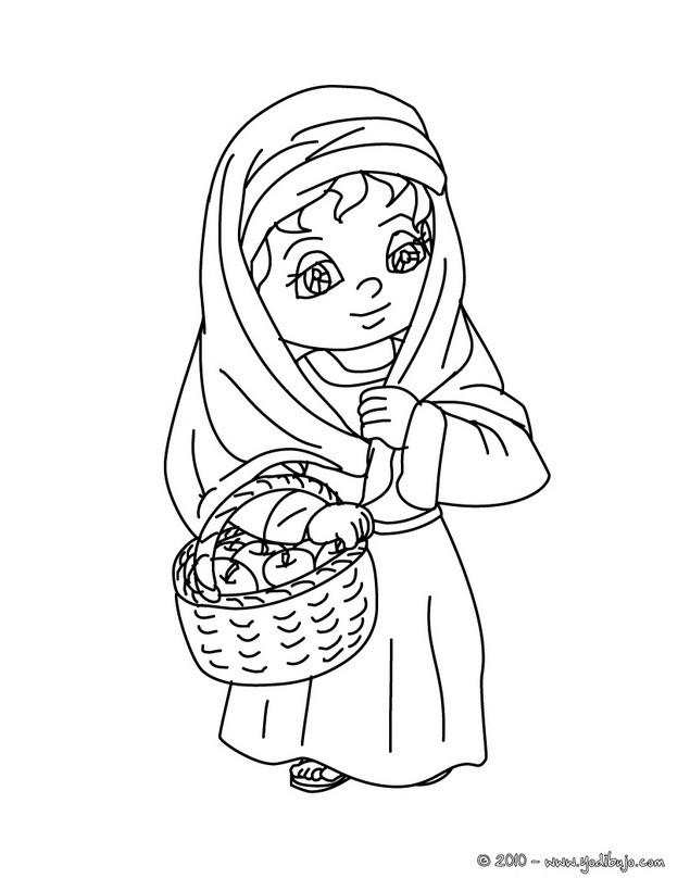 dibujo para colorear un nino pastor con corderos dibujo de un pastor ...
