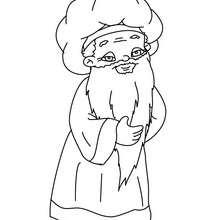 Dibujo de Melchor el rey mago para colorear - Dibujos para Colorear y Pintar - Dibujos para colorear FIESTAS - Dibujos para colorear de NAVIDAD - Dibujos para colorear de los REYES MAGOS de Navidad - Colorear MELCHOR