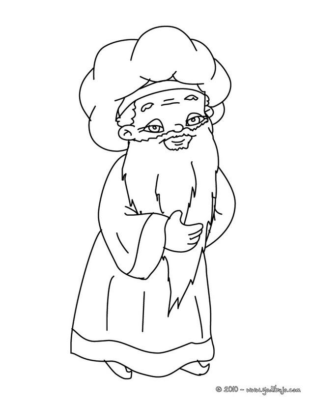 Dibujos para colorear melchor el rey mago - es.hellokids.com