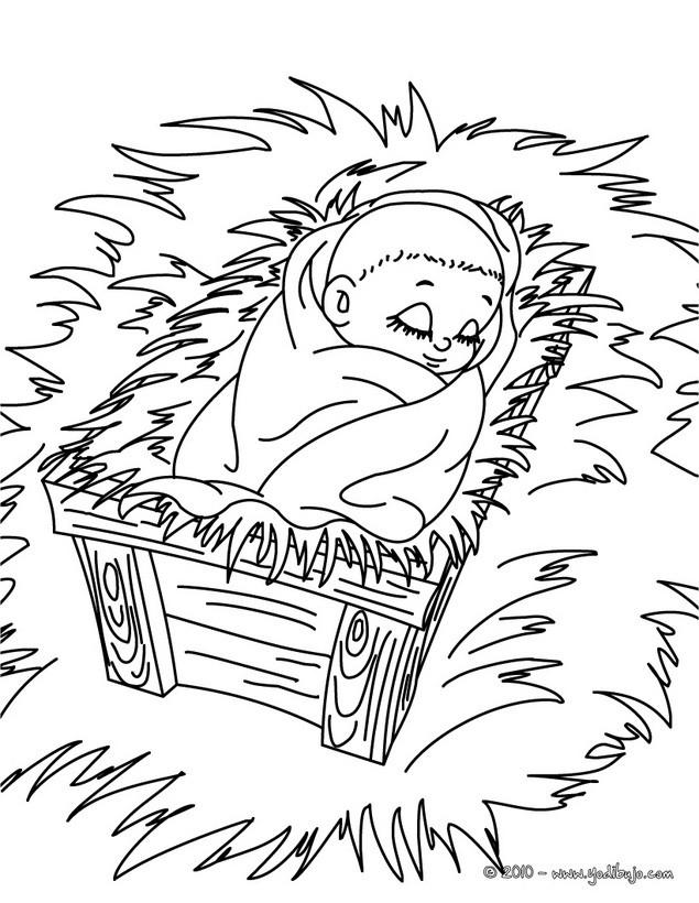 Dibujo del niños Jesus durmiendo para colorear - Dibujos para ...