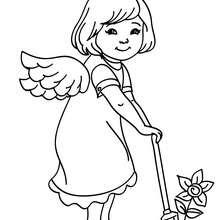 Dibujo para colorear : un angelito