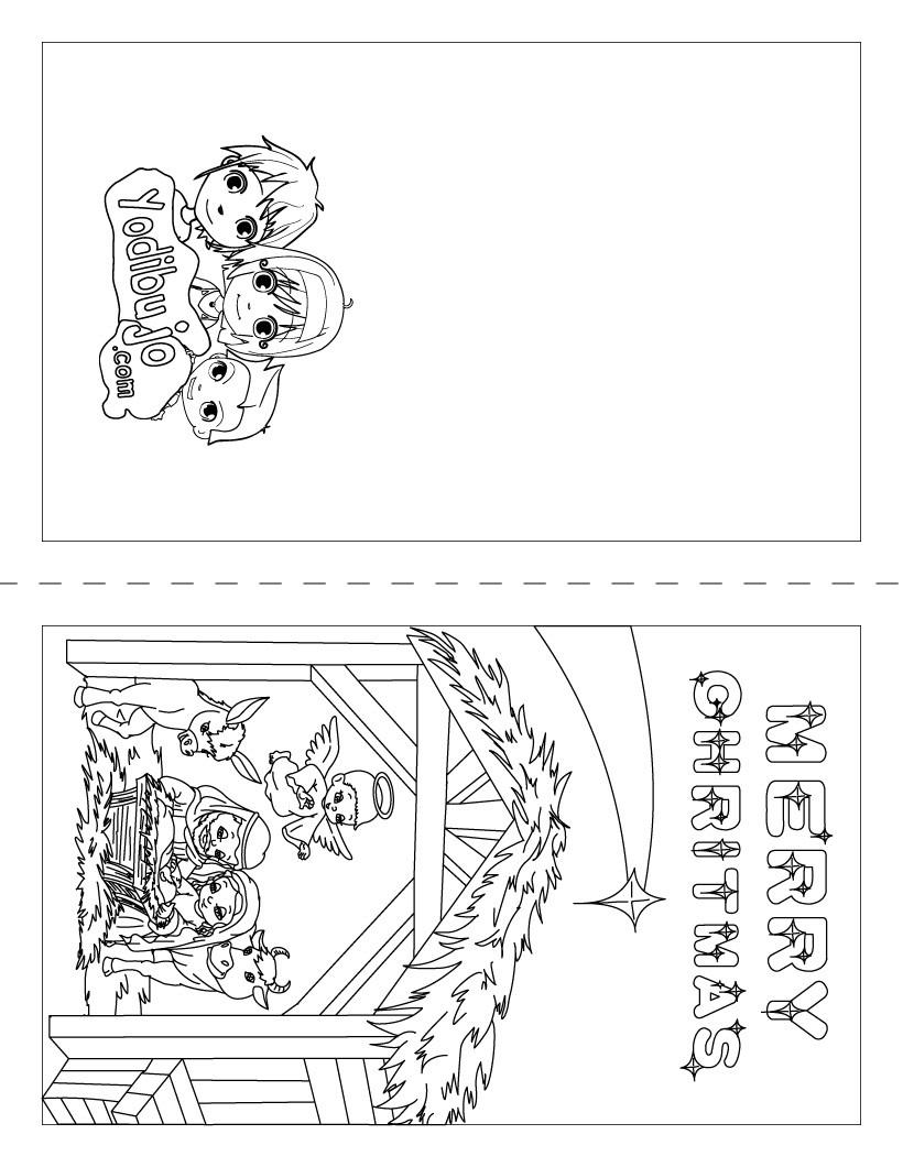 Dibujos para colorear cartel arbol de navidad - es.hellokids.com