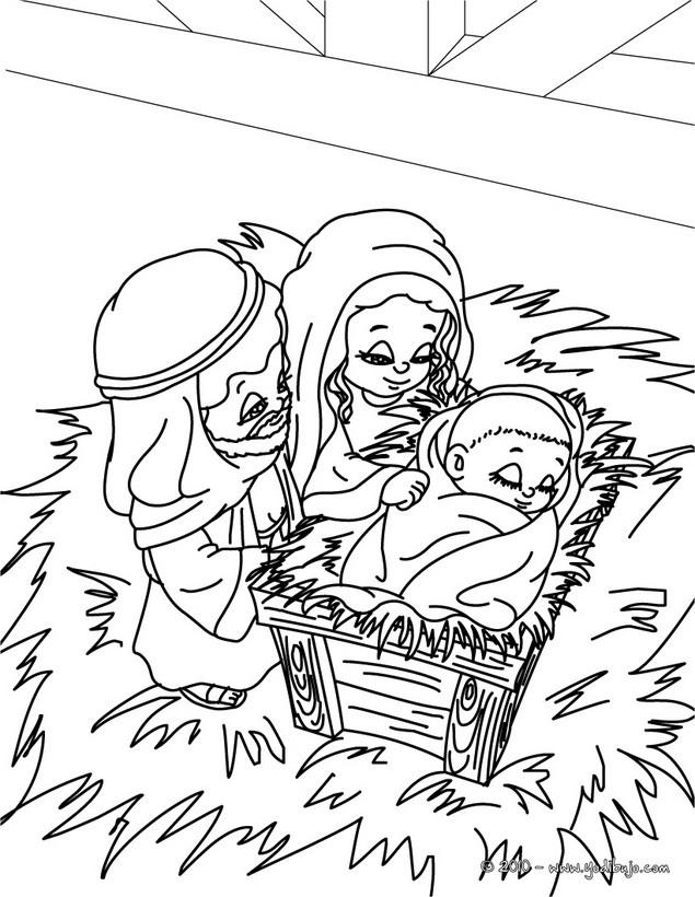 Dibujo para colorear : Jesus, Maria y Jose