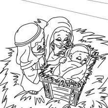 Dibujo para colorear de Jesus, Maria y Jose para colorear - Dibujos para Colorear y Pintar - Dibujos para colorear FIESTAS - Dibujos para colorear de NAVIDAD - Dibujos para colorear de NAVIDAD NACIMIENTO - Dibujos para colorear PORTAL DEL BELEN