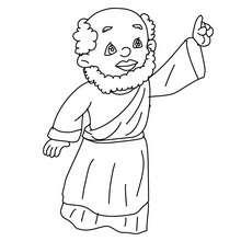 Dibujo para colorear de Baltasar el rey mago - Dibujos para Colorear y Pintar - Dibujos para colorear FIESTAS - Dibujos para colorear de NAVIDAD - Dibujos para colorear de los REYES MAGOS de Navidad - Colorear BALTASAR