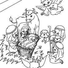 escena del belen navideño