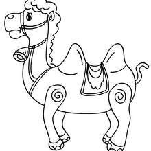 Dibujo para colorear camello de los reyes mago - Dibujos para Colorear y Pintar - Dibujos para colorear FIESTAS - Dibujos para colorear de NAVIDAD - Dibujos para colorear de los REYES MAGOS de Navidad - Dibujos REYES MAGOS oriente para colorear