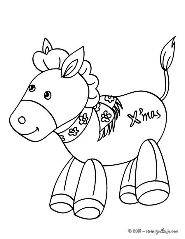 Dibujos para colorear animales del pesebre navideños - es.hellokids.com