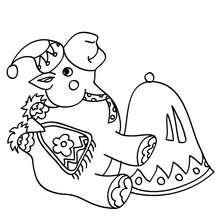 Dibujo para colorear camello de navidad - Dibujos para Colorear y Pintar - Dibujos para colorear FIESTAS - Dibujos para colorear de NAVIDAD - Dibujos para colorear de los REYES MAGOS de Navidad - Dibujos REYES MAGOS oriente para colorear