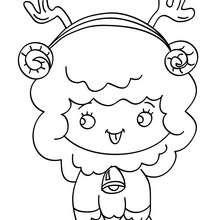 Dibujo para colorear cordero chistoso de navidad - Dibujos para Colorear y Pintar - Dibujos para colorear FIESTAS - Dibujos para colorear de NAVIDAD - Dibujos para colorear de NAVIDAD NACIMIENTO - Dibujos para colorear de PESEBRE