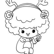 Dibujo de cordero navideño para colorear - Dibujos para Colorear y Pintar - Dibujos para colorear FIESTAS - Dibujos para colorear de NAVIDAD - Dibujos para colorear de NAVIDAD NACIMIENTO - Dibujos para colorear de PESEBRE