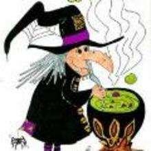 Ilustración : Bruja violeta