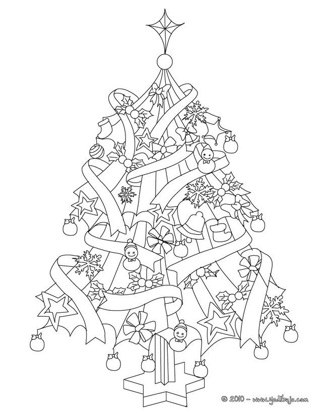 Dibujos para colorear el arbol de navidad con regalos y niños - es ...