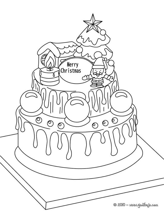 Dibujos para colorear galleta de navidad - es.hellokids.com