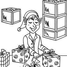 Dibujo para colorear : ayudante de Santa Claus