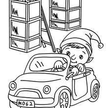 Dibujo para colorear ayudante chistoso de santa claus - Dibujos para Colorear y Pintar - Dibujos para colorear FIESTAS - Dibujos para colorear de NAVIDAD - Dibujos de AYUDANTES DE NAVIDAD para colorear