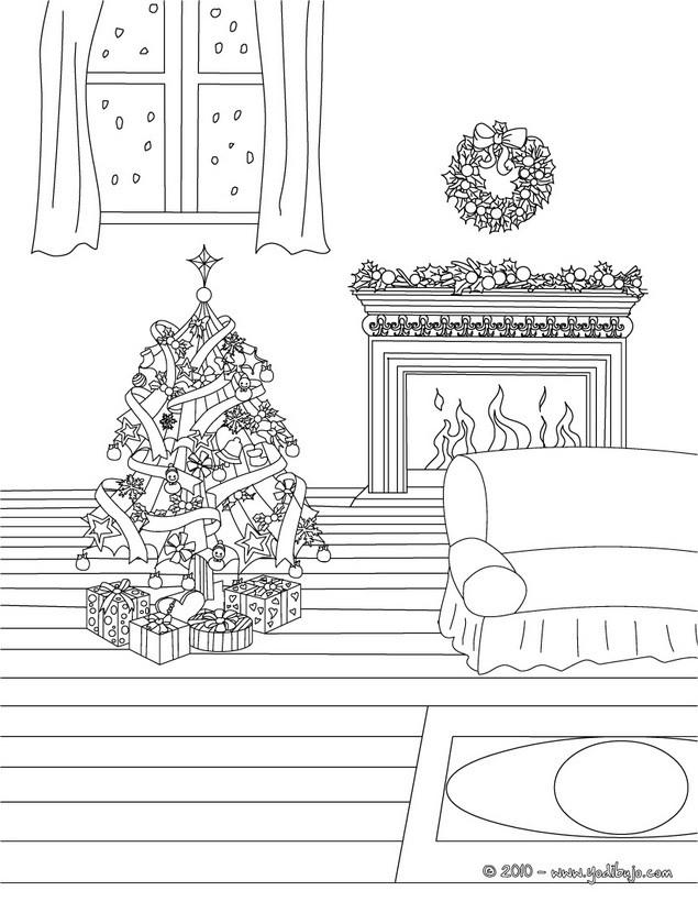 Dibujos para colorear una chimenea de navidad eshellokidscom