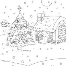 Dibujo para colorear : arboles de navidad
