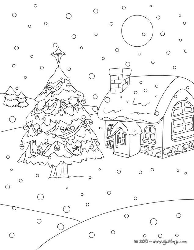 Dibujos para colorear arboles de navidad - es.hellokids.com