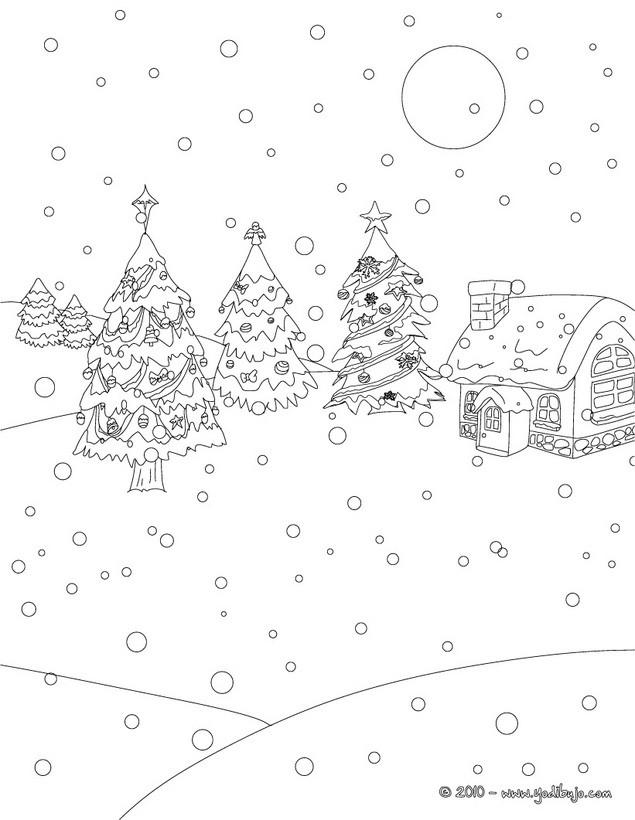 Dibujos para colorear ARBOL DE NAVIDAD - 20 imágenes navideñas para ...