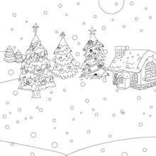 Dibujo para colorear arboles navideños - Dibujos para Colorear y Pintar - Dibujos para colorear FIESTAS - Dibujos para colorear de NAVIDAD - Dibujos para colorear ARBOL DE NAVIDAD