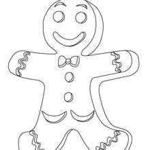 Dibujo para colorear : galleta de navidad
