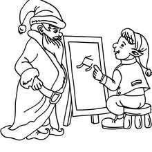 santa claus con un ayudante
