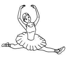 Dibujo para colorear : Flexibilidad del cuerpo