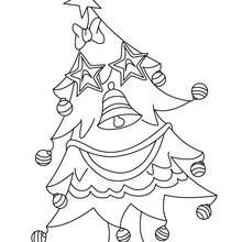 Dibujo para colorear arbol de navidad chistoso - Dibujos para Colorear y Pintar - Dibujos para colorear FIESTAS - Dibujos para colorear de NAVIDAD - Dibujos para colorear ARBOL DE NAVIDAD