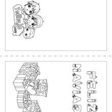 Dibujo para colorear : Carta regalo para doblar