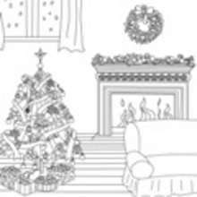 Dibujos de CHIMENEA DE NAVIDAD para colorear - Dibujos para colorear FIESTAS - Dibujos para Colorear y Pintar