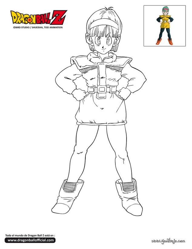 Dibujos para colorear son goku - es.hellokids.com