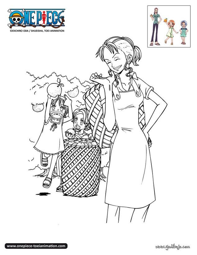 Dibujos para colorear nojiko - Dessin a colorier one piece ...