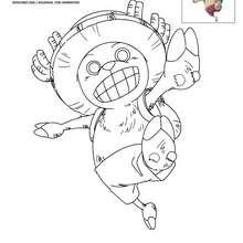 Dibujo para colorear CHOPPER - Dibujos para Colorear y Pintar - Dibujos para colorear MANGA - Dibujos para colorear ONE PIECE