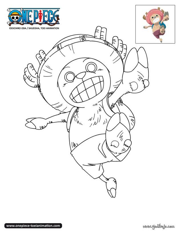 Dibujos para colorear chopper feliz for One piece dibujos
