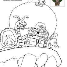 Dibujo para colorear GAIMON - Dibujos para Colorear y Pintar - Dibujos para colorear MANGA - Dibujos para colorear ONE PIECE