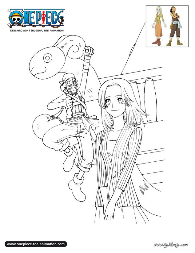 Dibujos para colorear kaya y usopp for Dibujos one piece