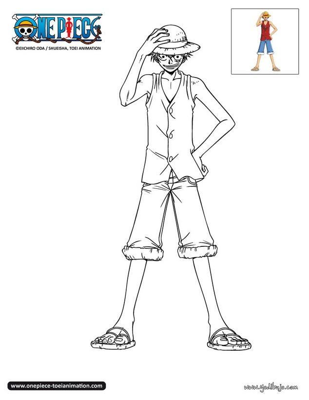 Dibujos Para Colorear Luffy Es Hellokids Com