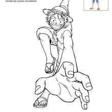 Dibujo de LUFFY para colorear - Dibujos para Colorear y Pintar - Dibujos para colorear MANGA - Dibujos para colorear ONE PIECE