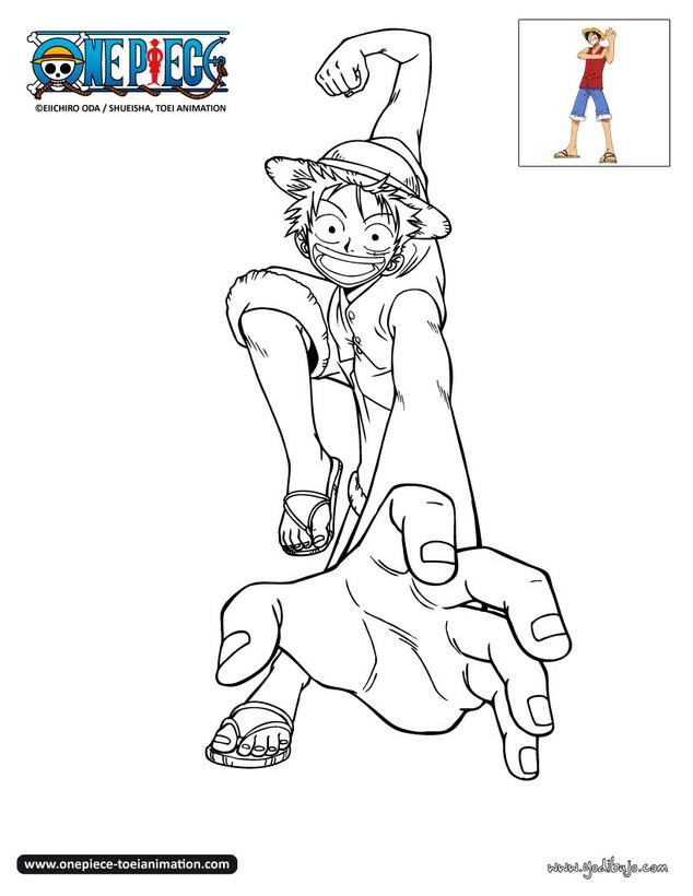 Dibujos para colorear luffy contento for Dibujos one piece