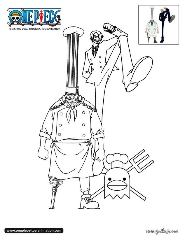 Dibujos para colorear sanji y zeff - Coloriage one piece ...
