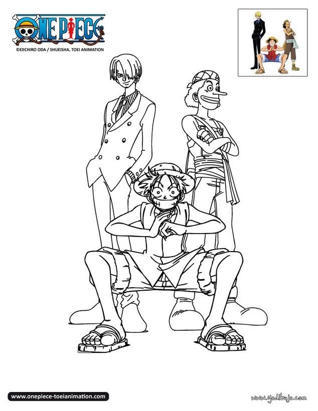 Dibujos para colorear sanji usuff y luffy for Dibujos one piece
