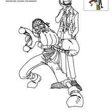 Dibujo para colorear USUFF y KURO - Dibujos para Colorear y Pintar - Dibujos para colorear MANGA - Dibujos para colorear ONE PIECE
